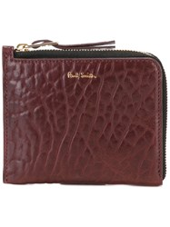 Paul Smith Alligator Effect Zipped Wallet Pink Purple