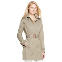 Lauren Ralph Lauren Hooded Raincoat Light Moss