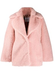 Ainea Oversized Faux Fur Jacket Pink
