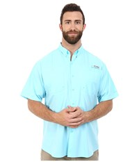 Columbia Big Tall Tamiami Ii S S Coastal Blue Men's Short Sleeve Button Up