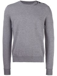 Maison Martin Margiela Slit Detail Crew Neck Jumper Grey