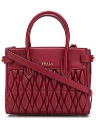 Furla Pin Quilted Tote Red