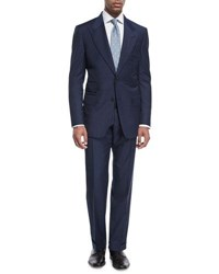 Tom Ford Windsor Base Micro Pinpoint Two Piece Suit Bright Blue