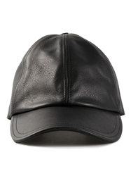 Tomas Maier Leather Cap Black