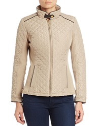 Weatherproof Quilted Jacket Beige