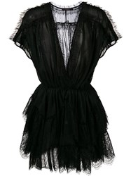 Amen Lace Mini Dress Black