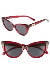 Sonix Women's Kyoto 51Mm Cat Eye Sunglasses Crimson Black Lens Crimson Black Lens