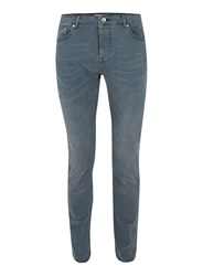 Topman Light Smokey Wash Grey Stretch Slim Jeans
