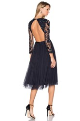Needle And Thread Embellished Butterfly Dress Navy