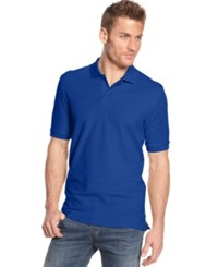 Club Room Short Sleeve Solid Estate Performance Polo Lazulite