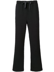 Matthew Miller Drawstring Trousers Black