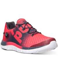 Reebok Men's Zpump Fusion Running Sneakers From Finish Line Neon Cherry Gravel White