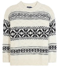 Polo Ralph Lauren Oversized Wool Blend Sweater White