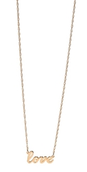 Jennifer Zeuner Jewelry Cursive Love Necklace Gold