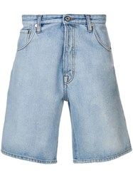 Just Cavalli Side Logo Denim Shorts Blue