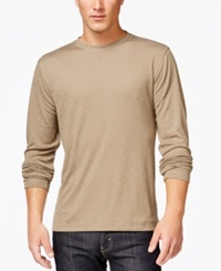 Tasso Elba Ribbed Long Sleeve T Shirt Only At Macy's White Pure