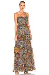Needle And Thread Flowerbed Maxi Dress In Blue Green Floral Pink Red Yellow Blue Green Floral Pink Red Yellow