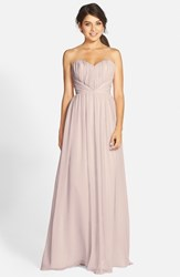 Women's Jim Hjelm Occasions Strapless Chiffon Sweetheart A Line Gown Candelight Ivory