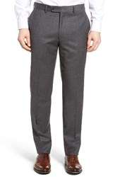 Bensol Men's Big And Tall Flannel Wool Trousers Light Grey