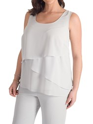 Chesca Triple Layer Chiffon Tunic Silver Grey