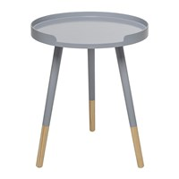 Bloomingville Round Side Table Grey