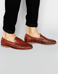New Look Slip On Loafer With Woven Detail Brown