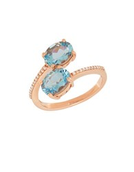 Lord And Taylor Diamond Crystal 14K Rose Gold Ring