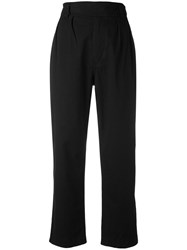 Margaret Howell Cropped Trousers Women Cotton M Black
