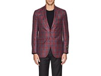 Jack Victor Checked Two Button Sportcoat Red