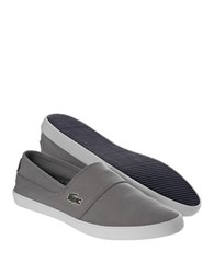 Lacoste Marice Lcr Canvas Slip On Shoes Grey