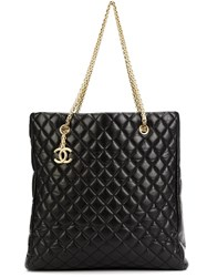 Chanel Vintage Large 'Mademoiselle' Shopper Tote Pink And Purple