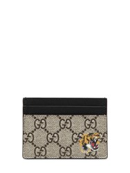 Gucci Tiger Gg Supreme Card Holder