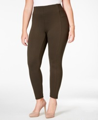 American Rag Plus Size Ponte Leggings Only At Macy's Dusty Olive