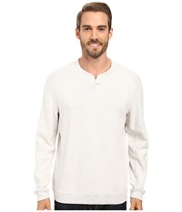 Tommy Bahama Reversible New Flip Side Pro Abaco Pullover Winter White Heather Men's Clothing
