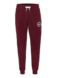 Hype Burgundy Ribbed Textured Joggers