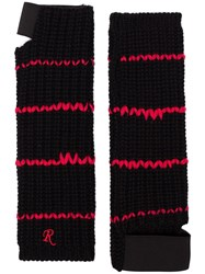 Raf Simons Embroidered Cuff Fingerless Wool Gloves Unavailable