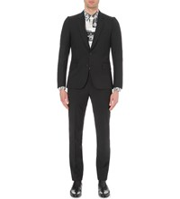 Paul Smith Soho Fit Single Breasted Wool And Mohair Blend Suit Black