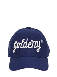 Golden Goose 'Goldeny' Cotton Canvas Baseball Hat Blue