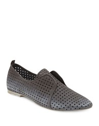 Dolce Vita Kylie Perforated Leather Loafers Smoke