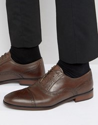 Red Tape Lace Up Brogue Smart Shoes In Brown