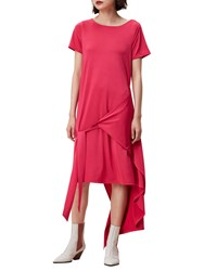 Finery Silsby Wrap T Shirt A Line Dress Pink
