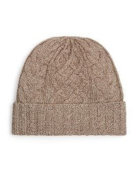 The Men's Store At Bloomingdale's Cable Knit Beanie Pebble Twist