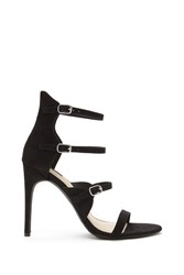 Forever 21 Caged Faux Suede Stilettos