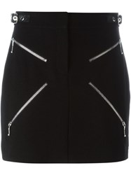 Alexander Wang X Zipper Mini Skirt Black