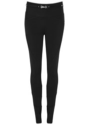 High Hi Lay Out Ribbed Stretch Jersey Leggings Black
