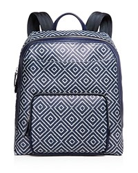 Salvatore Ferragamo Chevron Print Backpack Blue Sand