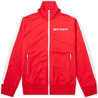 Palm Angels Classic Zip Track Jacket Red