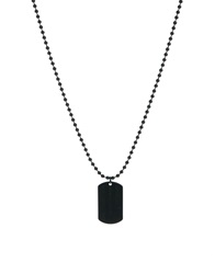 Asos Dog Tag Black