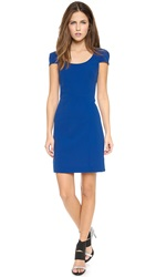 4.Collective Cap Sleeve Fitted Dress Deep Blue