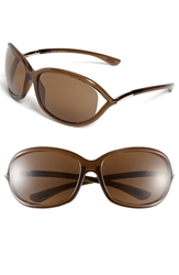 Tom Ford 'Jennifer' 61Mm Polarized Sunglasses Dark Brown Polarized